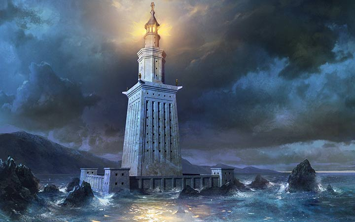 عجایب هفتگانه جهان - فانوس دریایی اسکندریه