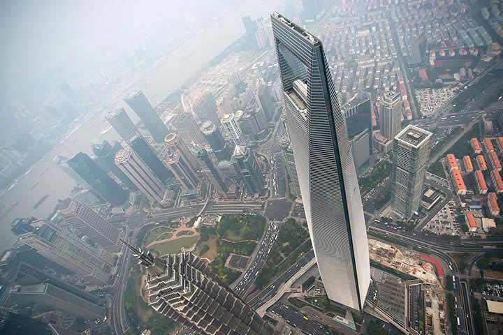 بلندترین برج های جهان - مرکز مالی جهانی شانگهای، چین