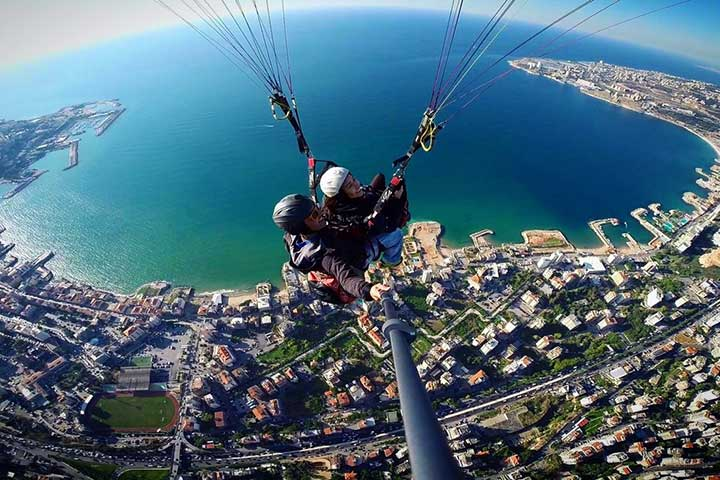 پاراگلایدرسواری در سفر به لبنان