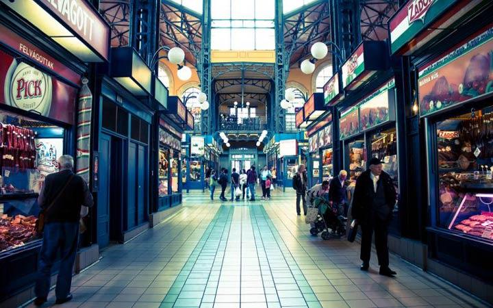 جاهای دیدنی بوداپست - تالار بازار مرکزی