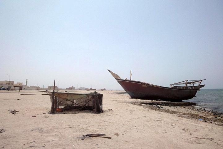 قایقهای متروکهی راس حیلف در سفر به عمان