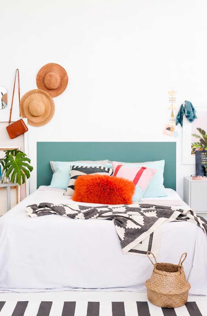 چیدمان اتاق خواب کوچک - بازی با رنگها