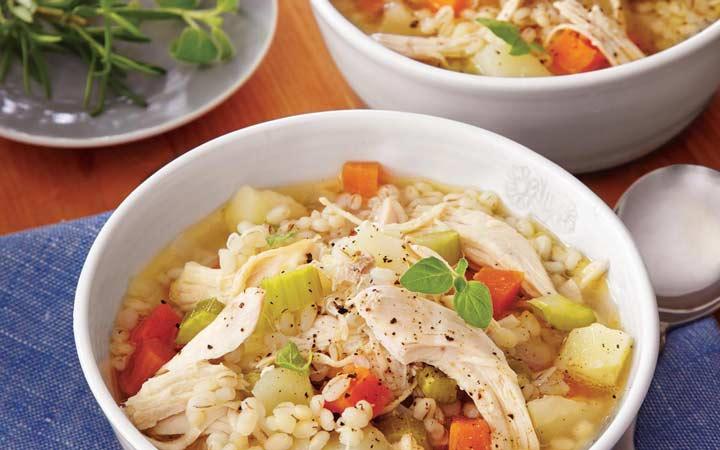 طرز تهیه سوپ جو - سوپ جو با مرغ