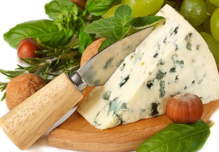 انواع پنیر - پنیر گورگونزولا (Gorgonzola)