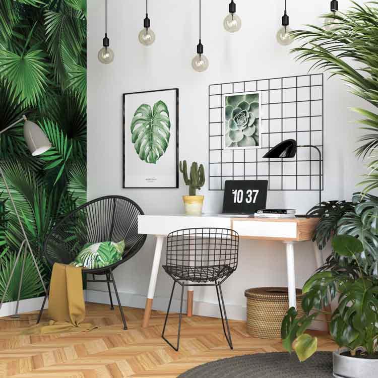 کاغذ دیواری - دکوراسیون اتاق کار