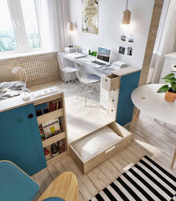 اتاق خواب- دکوراسیون میز کار