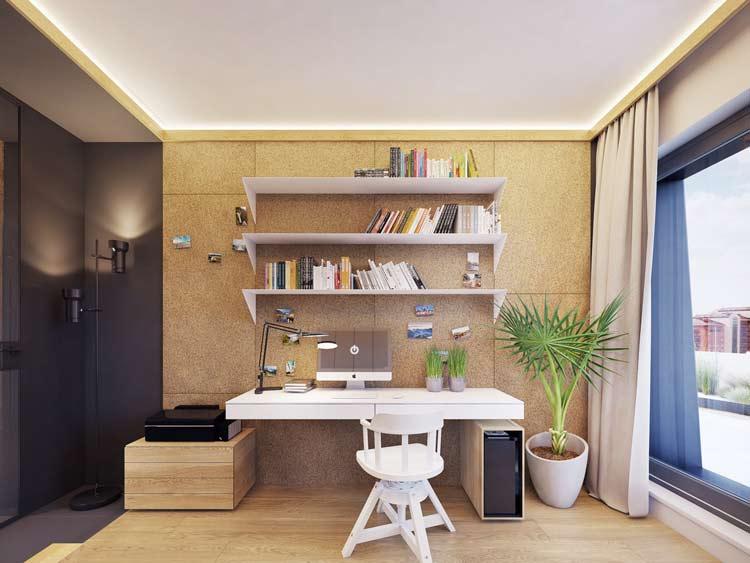 میز متصل- دکوراسیون اتاق کار