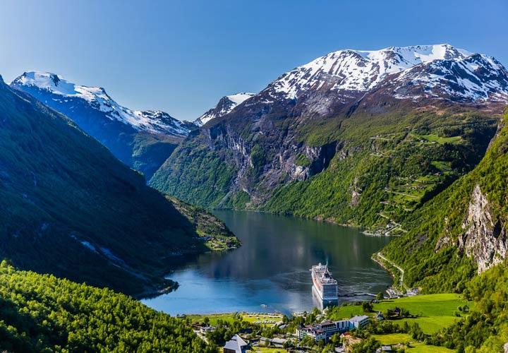 جاهای دیدنی نروژ - منطقهی گِیرانگِرفیورد