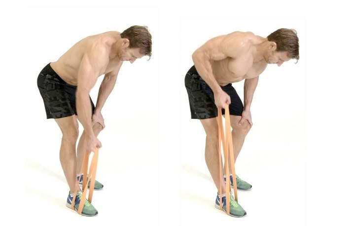 زیر بغل خم با کش ورزشی