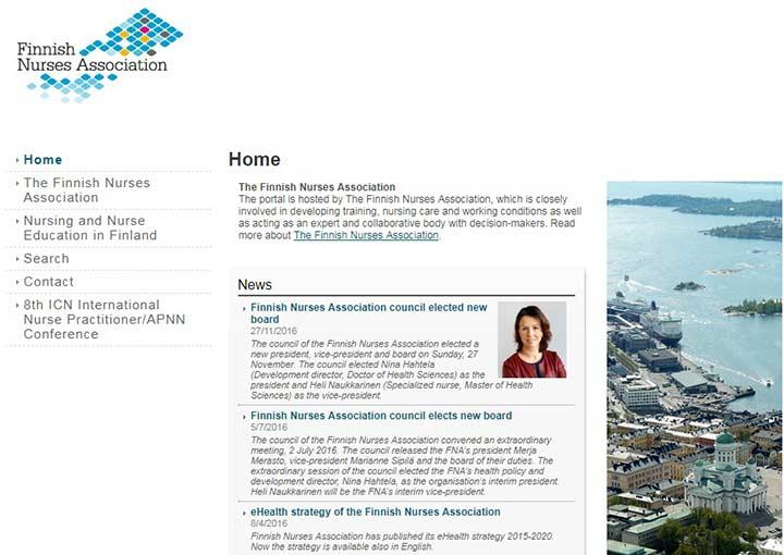 سایت انجمن پرستاران فنلاند - تحصیل پزشکی در فنلاند