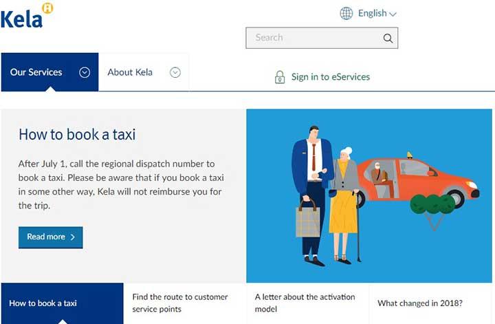 سایت KELA، راهنمای اجاره تاکسی و تأمین هزینه مسکن برای زندگی در فنلاند