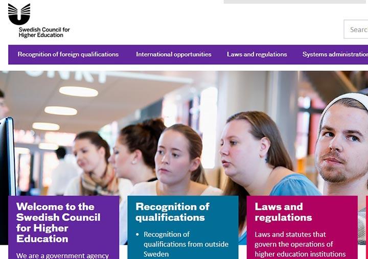 سایت کنسول آموزش عالی سوئد - تحصیل رایگان در سوئد