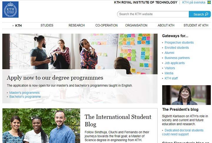 دانشگاه های سوئد - سایت دانشگاه سلطنتی استکهلم