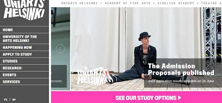 دانشگاه هنر هلسینکی - بهترین دانشگاه های فنلاند