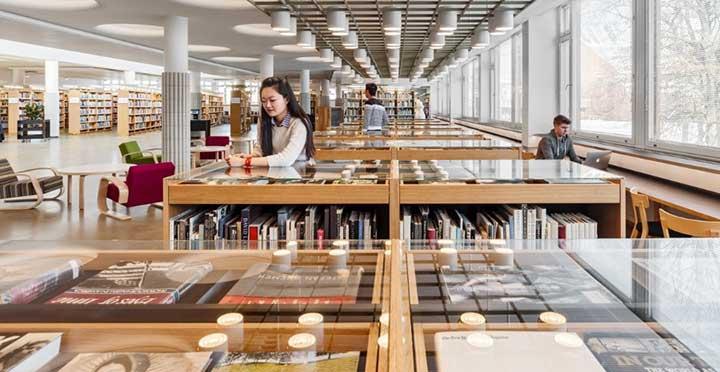 تحصیل در فنلاند - کتابخانه دانشگاه آلتو
