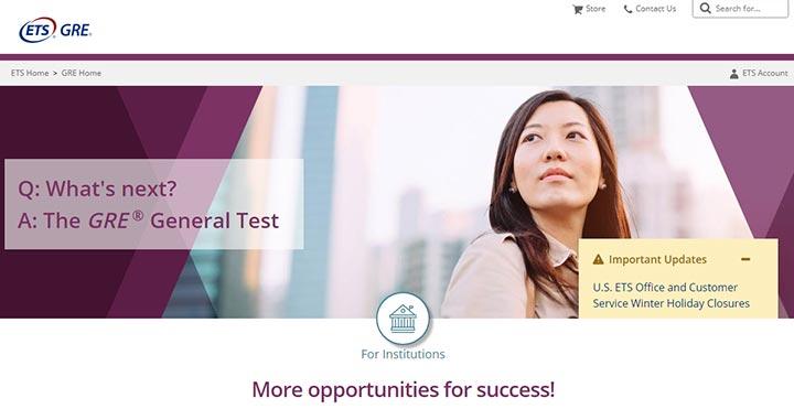 ثبت نام آزمون GRE - سایت رسمی gre