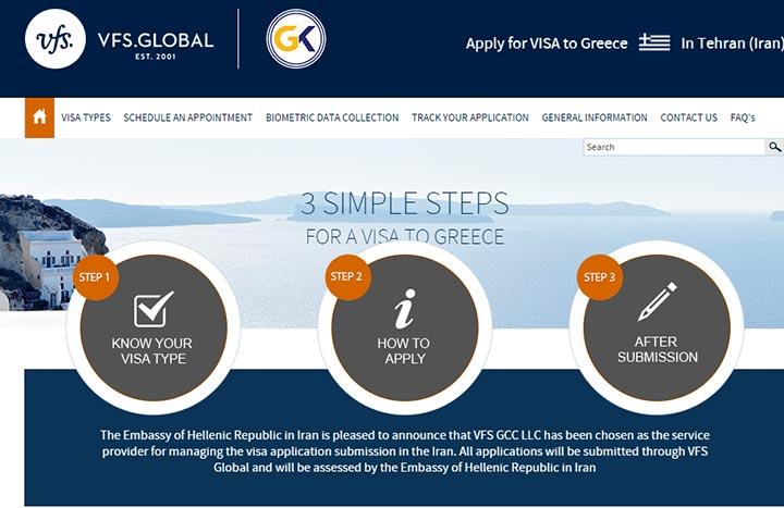 کارگزاری وی اف اس گلوبال - ویزای یونان