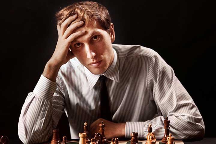 بابی فیشر، از قهرمانان شطرنج جهان