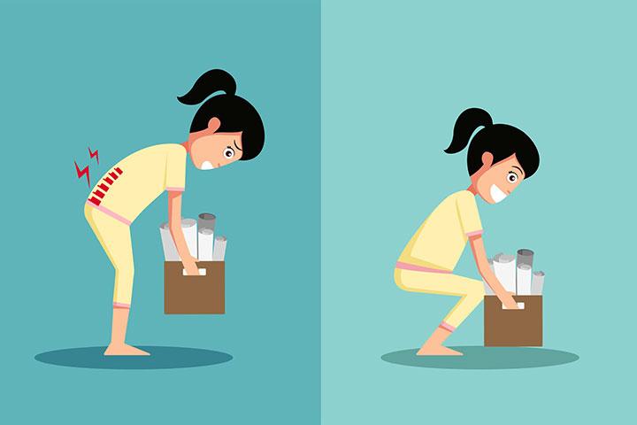 بلند کردن نادرست اجسام سنگین باعث کمردرد میشود