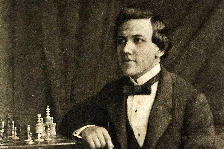 پل مورفی، از قهرمانان شطرنج جهان