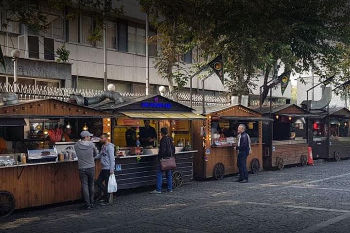 غرفه های سی تیر - کافه های تهران