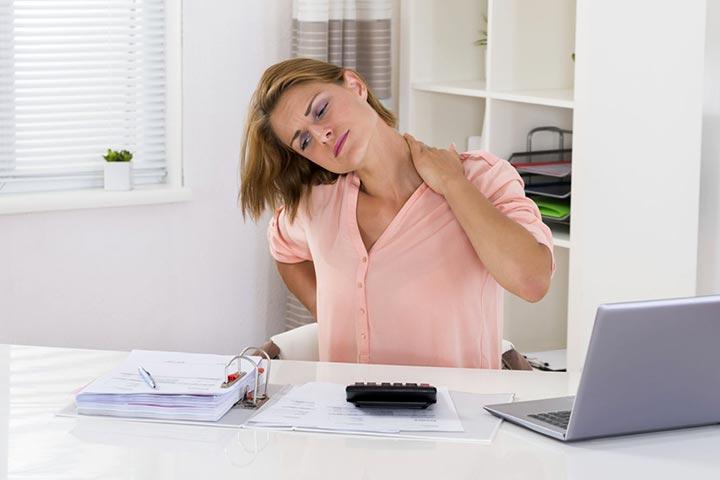 درمان گردن درد بعد از خواب - کارهای روزانه