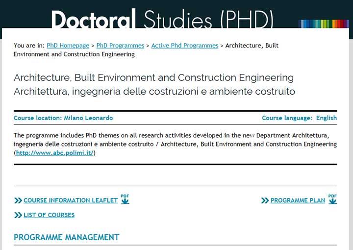 رشته مهندسی ساخت دانشگاه پلی تکنیک میلان