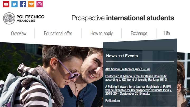سایت های دانشگاهی ایتالیا - دانشگاه پلی تکنیک ایتالیا