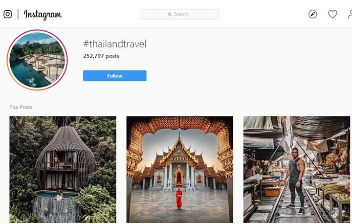 تالیند گردی در اینستاگرام با هشتگ - ویزای تایلند