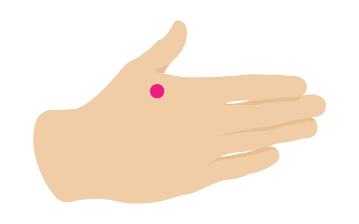 درمان سردرد با ماساژ - نقطه فشار - گودی اتصال