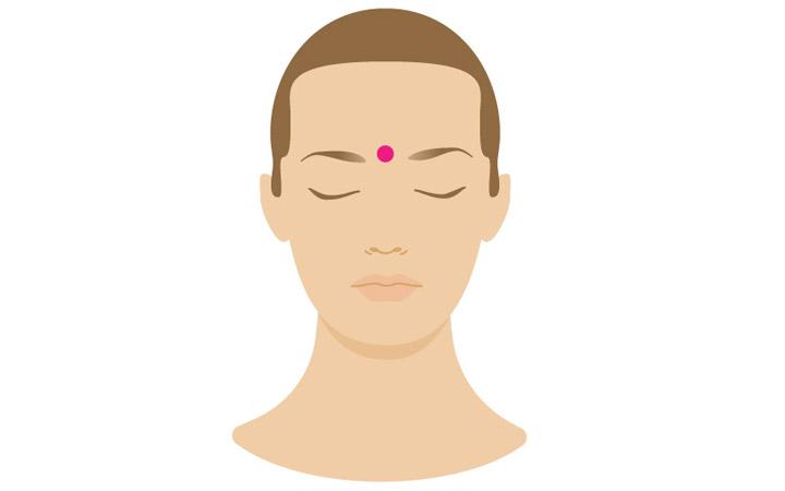 نقطه فشار چشم سوم - درمان سردرد با ماساژ
