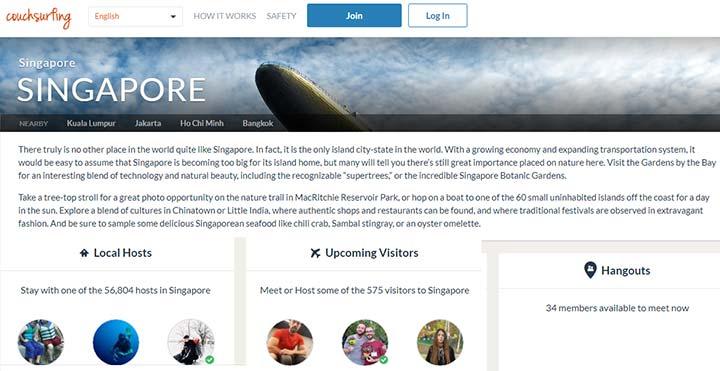سنگاپورگردی با ۵۶هزار میزبان مهماننواز و رایگان - ویزای سنگاپور