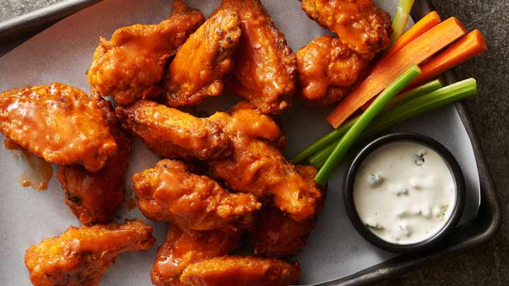 چاقی شکم با بال مرغ