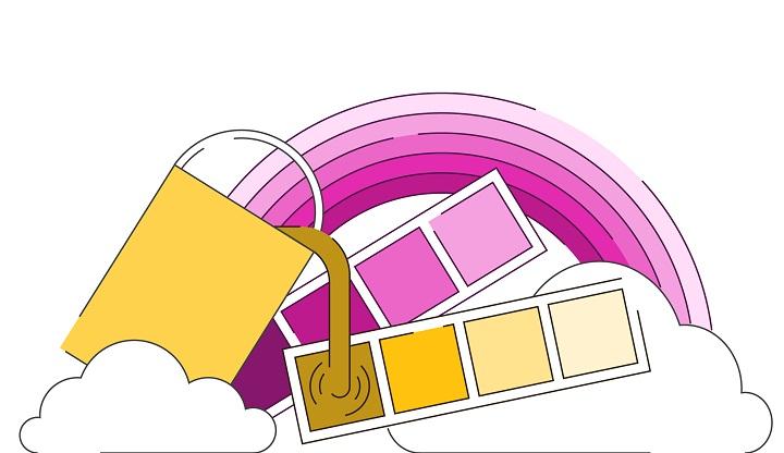 باید از رنگها بهصورتی سازگار و هماهنگ استفاده کنید