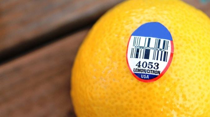 معنی برچسب روی میوه ها - plu