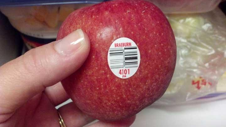 معنی برچسب روی میوه ها