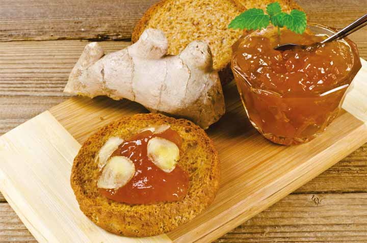 مصرف مربای زنجبیل در صبحانه