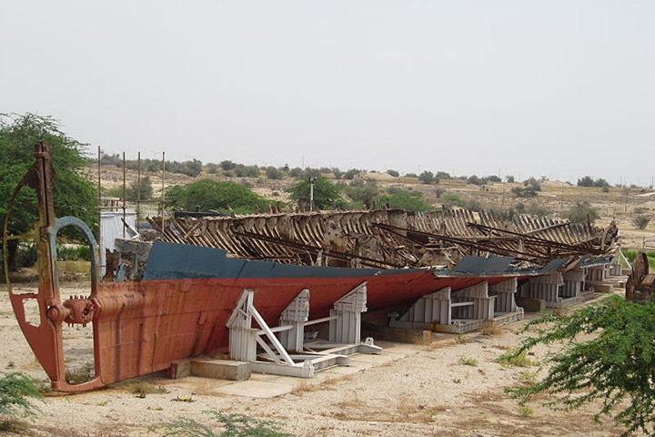 کشتی پرسپولیس در موزه دریا و دریانوردی بوشهر