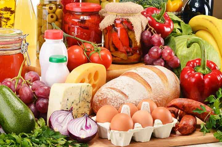 ترتیب مصرف مواد غذایی