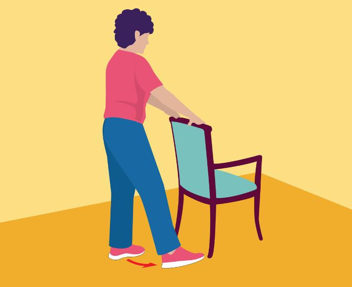 انتقال وزن بدن- ورزش سالمندان