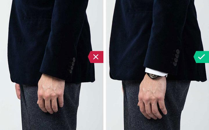 آستین کت - اشتباه رایج در نحوه لباس پوشیدن مردان