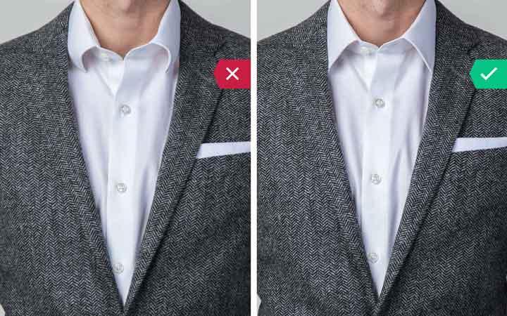 یقه پیراهن - اشتباه رایج در نحوه لباس پوشیدن مردان