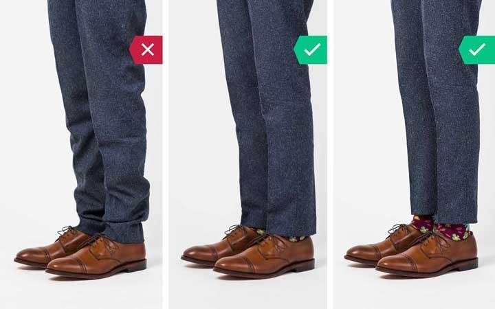 شلوار مناسب - اشتباه رایج در نحوه لباس پوشیدن مردان