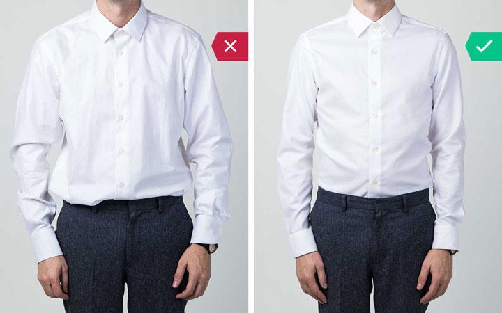 پیراهن مناسب - اشتباه رایج در نحوه لباس پوشیدن مردان