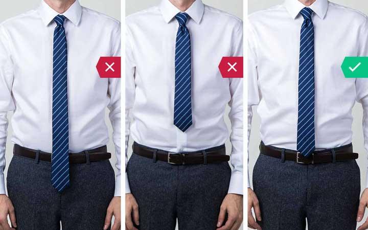 کراوات بلند - اشتباه رایج در نحوه لباس پوشیدن مردان