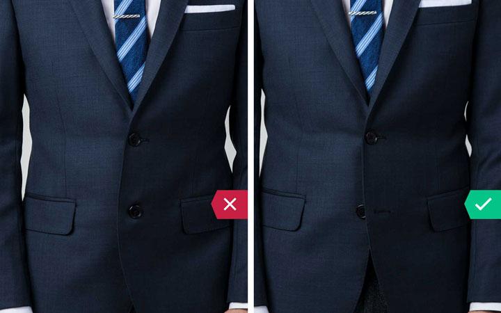 دکمه های کت - اشتباه رایج در نحوه لباس پوشیدن مردان