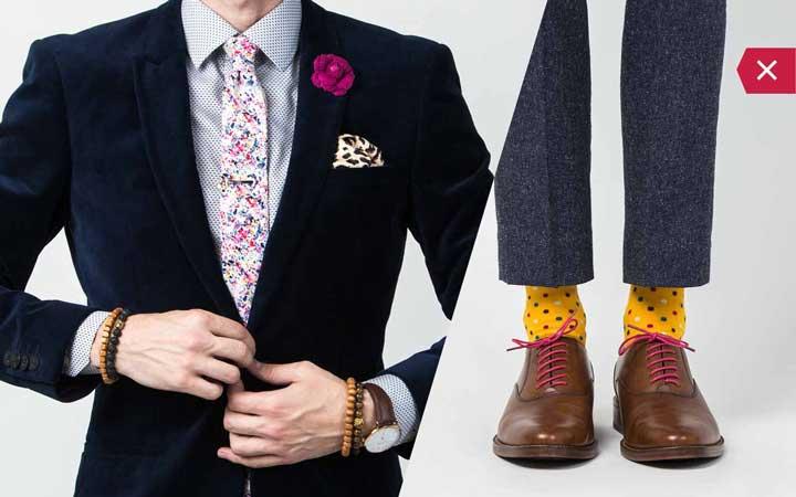 اکسسوری مردانه - اشتباه رایج در نحوه لباس پوشیدن مردان