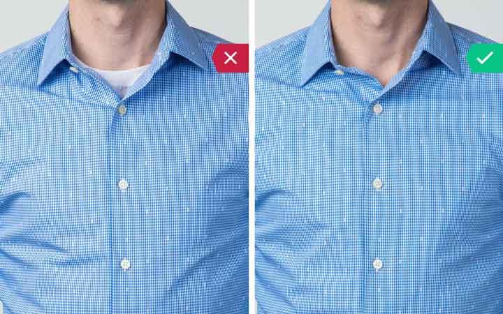 زیرپیراهنی - اشتباه رایج در نحوه لباس پوشیدن مردان