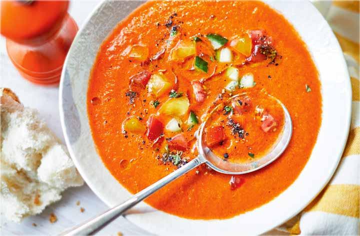 سوپ سرد مناسب رژیم تابستانی