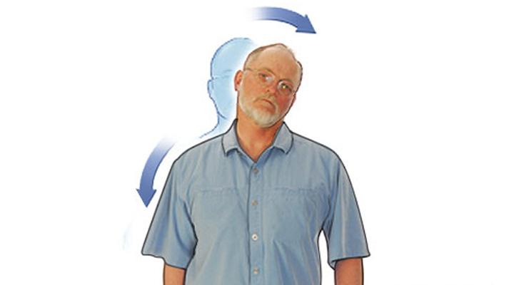 کشیدن گردن - ورزش سالمندان